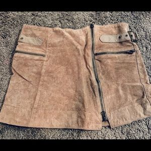 Bebe suede mini skirt
